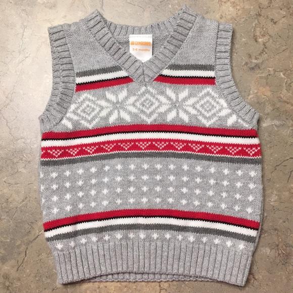 Gymboree Other - Gymboree holiday sweater vest 3-6 mo.